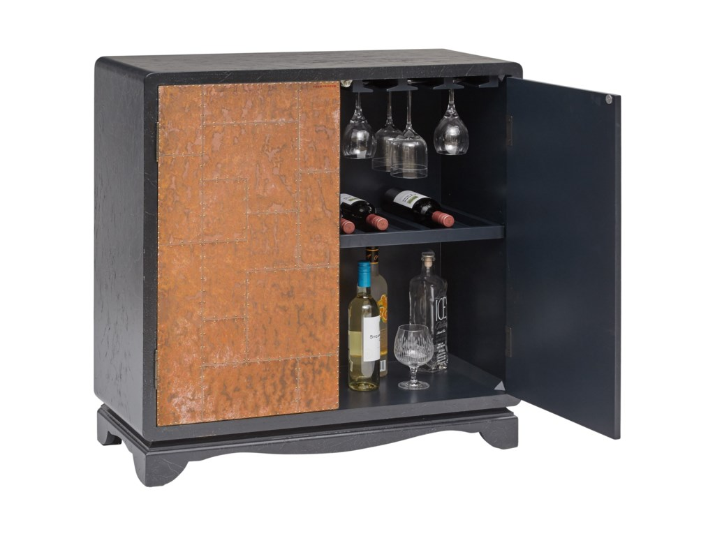 Accentrics Home Bars and Bar StorageLue Accent Cabinet