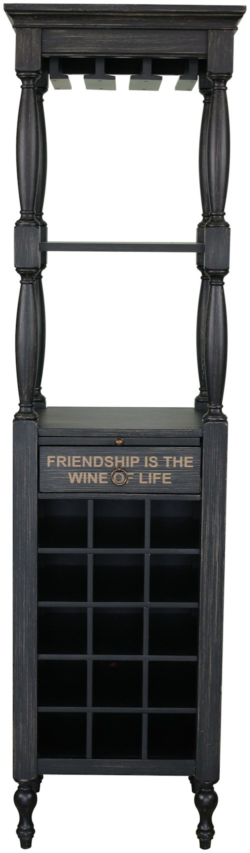 Pulaski Furniture Accents Fulton Wine Cabinet with Large Bottle Rack