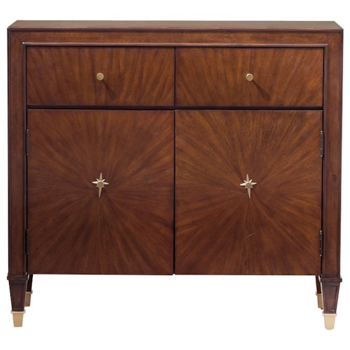 Pulaski Furniture Accents Debra Accent Chest with Brass Finished Foot Caps