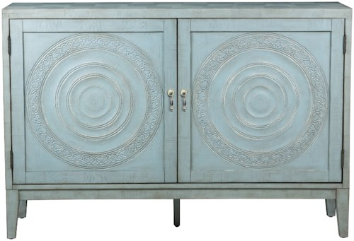Pulaski Furniture Accents Brianne Credenza with Intricate Door Embossings