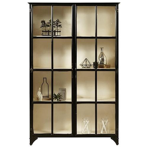 Pulaski Furniture Accents Metal Display Cabinet in Matte Black Finish