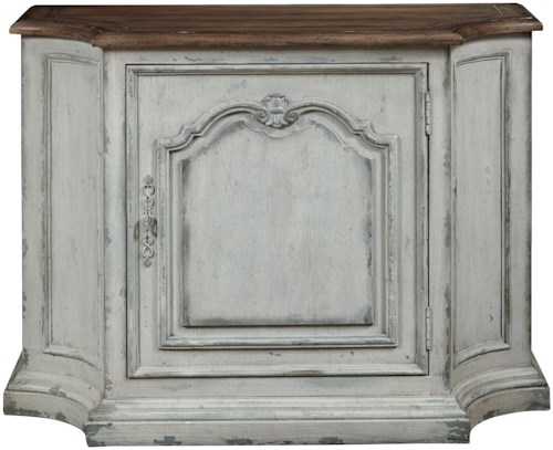 Pulaski Furniture Accents Weathered Console with Wine Bottle Storage