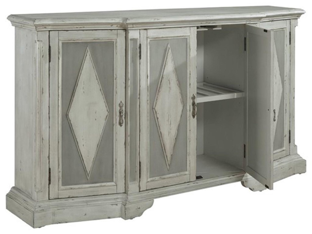 Pulaski Furniture AccentsGrey Diamond Cabinet with Hidden Wine Bottle