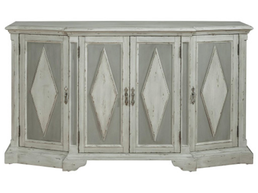 Pulaski Furniture AccentsGrey Diamond Cabinet with Hidden Wine Bottle
