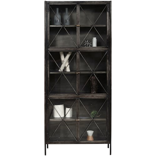 Pulaski Furniture Accents Iron Display Cabinet