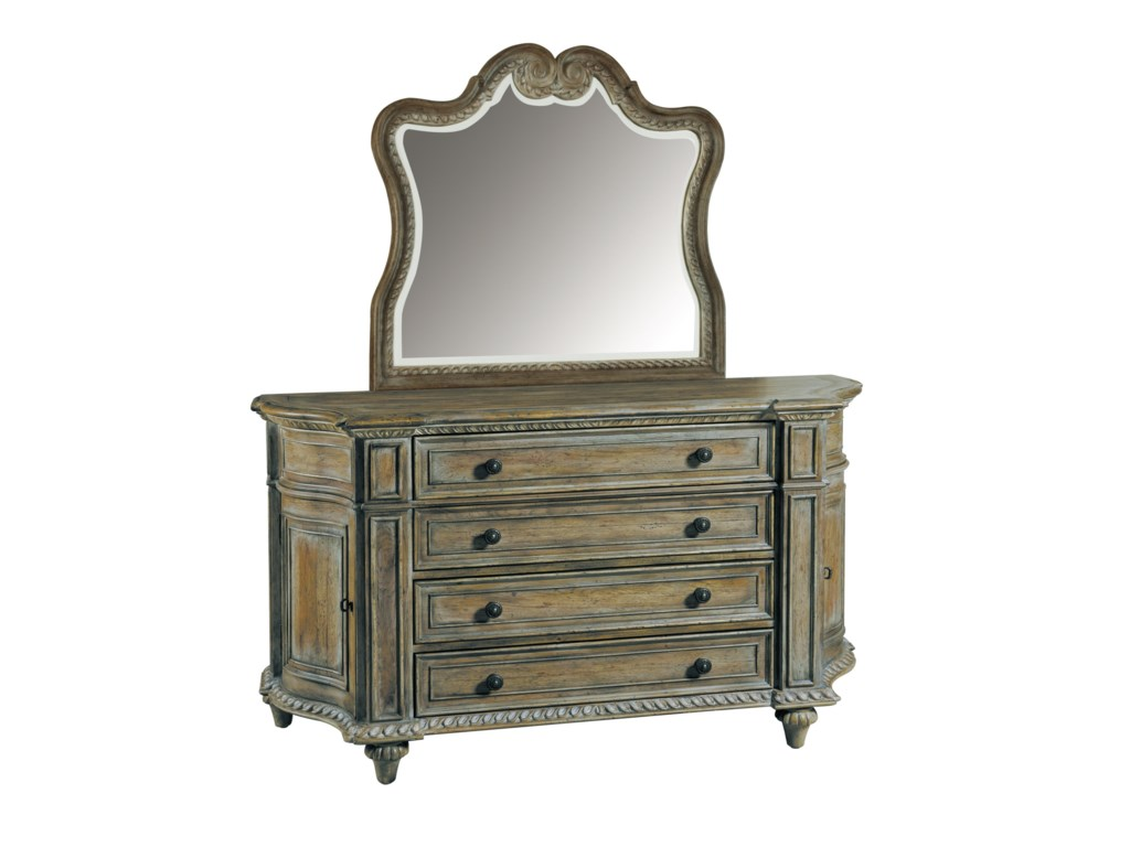 Pulaski Furniture ArabellaCurved Dresser & Mirror Set