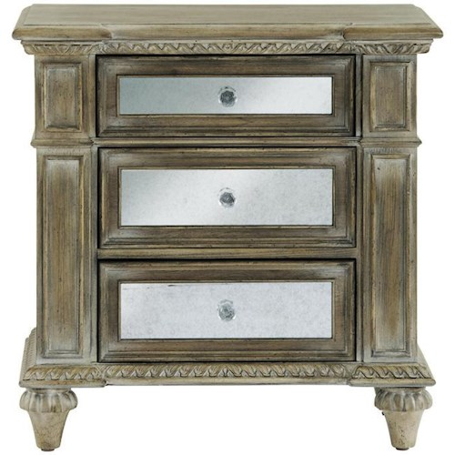 Pulaski Furniture Corporation: Pulaski Furniture Arabella 3 Drawer Mirrored Nightstand