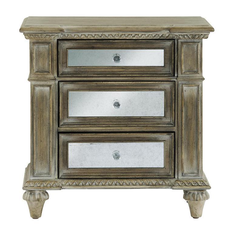 Pulaski Furniture Arabella 3 Drawer Mirrored Nightstand