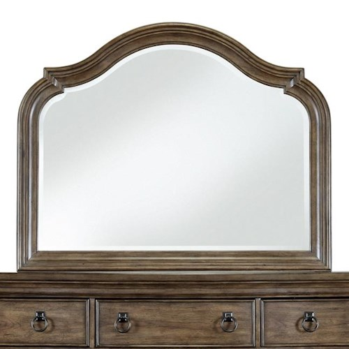 Pulaski Furniture Aurora Traditional Arched Dresser Mirror