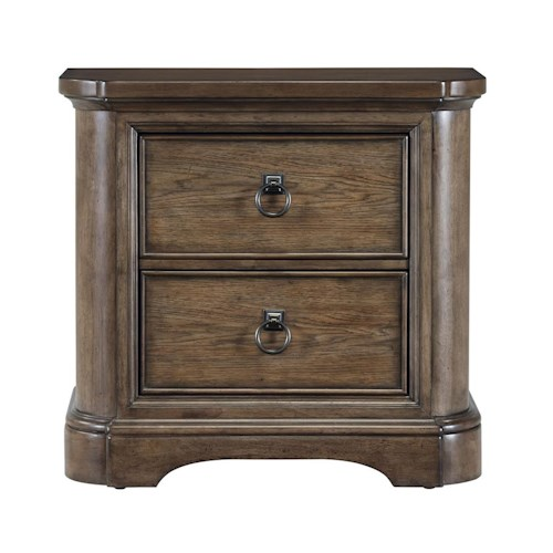 Pulaski Furniture Aurora Traditional Nightstand with One Felt-Lined Drawer