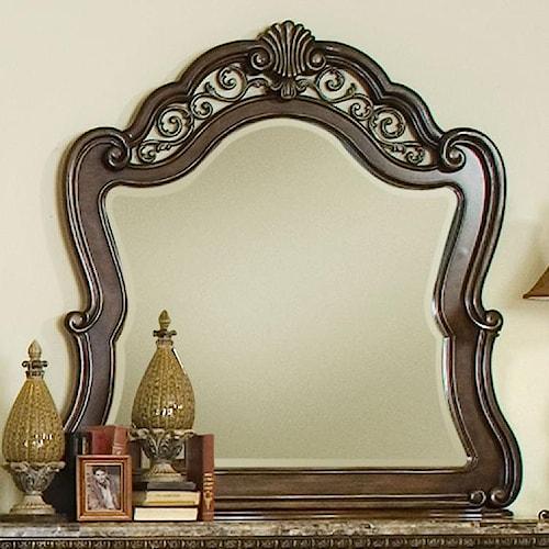 Pulaski Furniture Birkhaven Mirror with Ornamental Frame