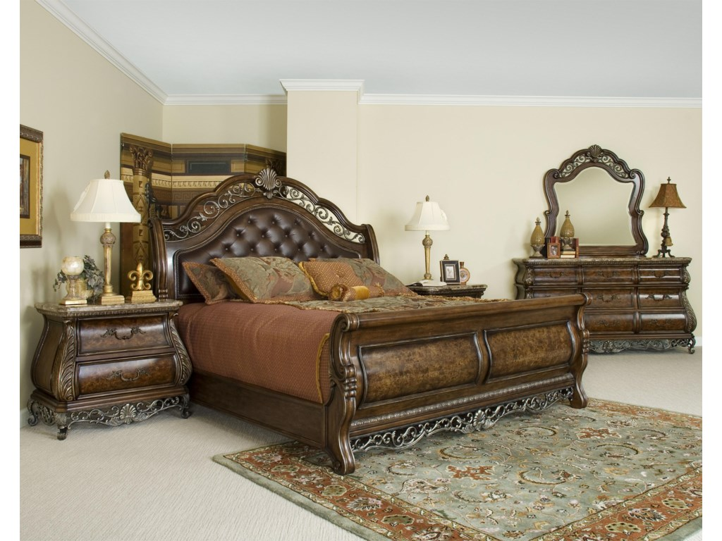 Shown with Sleigh Bed, Dresser, and Mirror