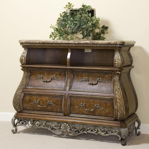 Pulaski Furniture Birkhaven Media Chest with Two Cubbyholes & Four Drawers