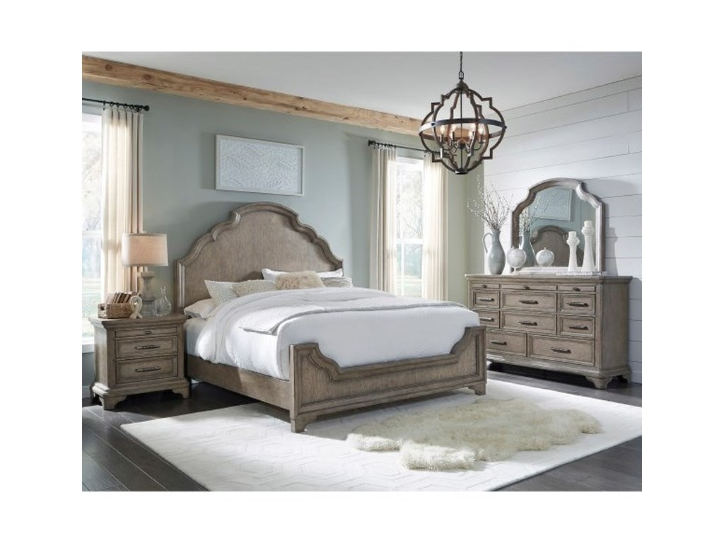 Pulaski Furniture BristolQueen Bedroom  Panel Bed
