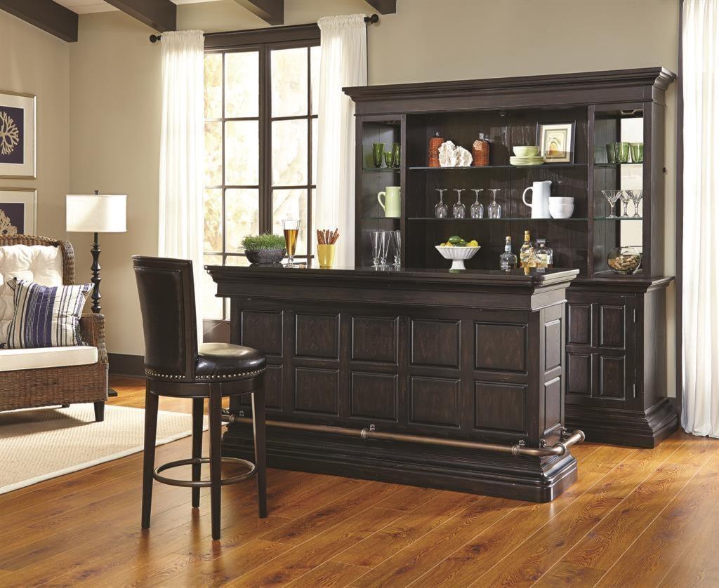 pulaski furniture burton back bar with hutch conlin s furniture pulaski furniture burton back bar with hutch