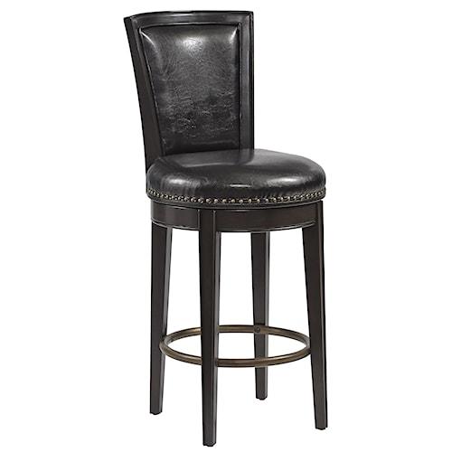 Pulaski Furniture Burton Swivel Bar Stool w/ Nailhead Trim