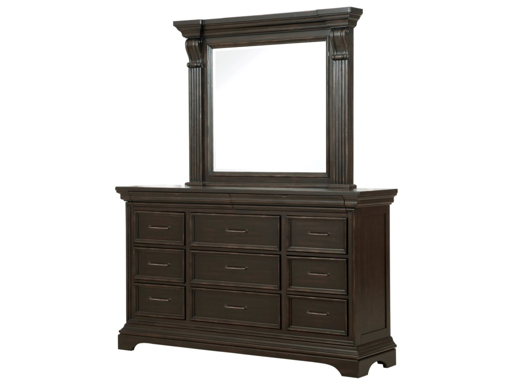 Pulaski Furniture CaldwellDresser and Mirror Combo