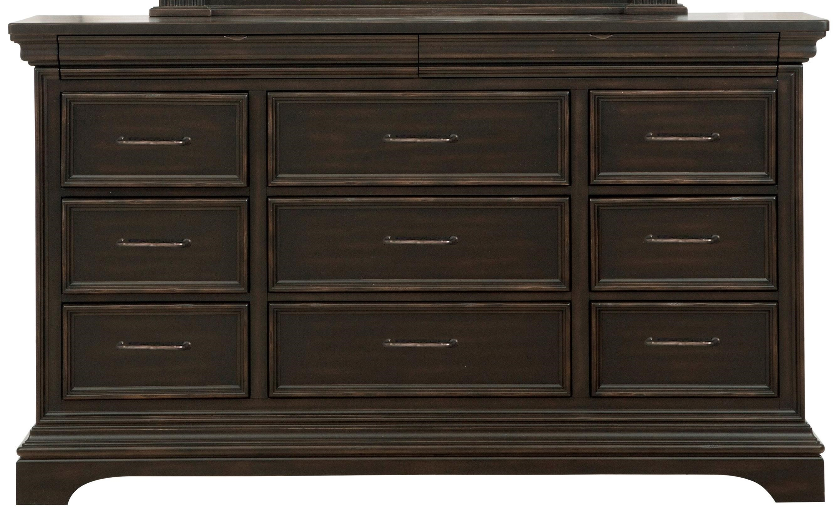 Pulaski Furniture Caldwell 11 Drawer Dresser With Jewelry Tray   Pedigo  Furniture   Dressers