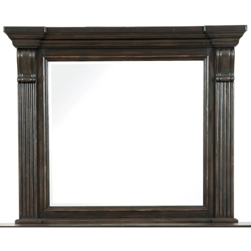 Pulaski Furniture Caldwell Beveled Mirror with Crown Molded Frame