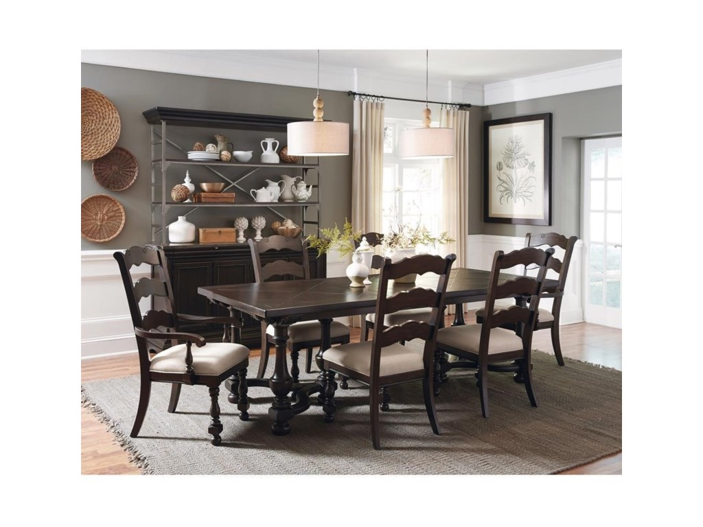 Pulaski Furniture Caldwell7-Piece Table and Chair Set