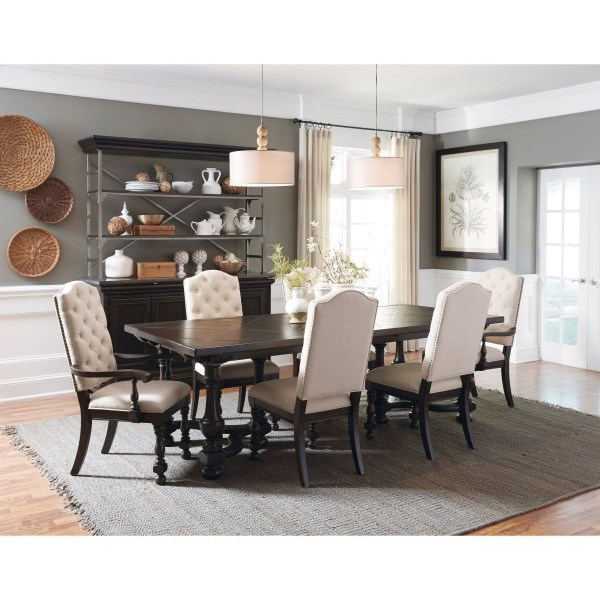 Caldwell Traditional 7 Piece Table And Chair Set By Pulaski Furniture