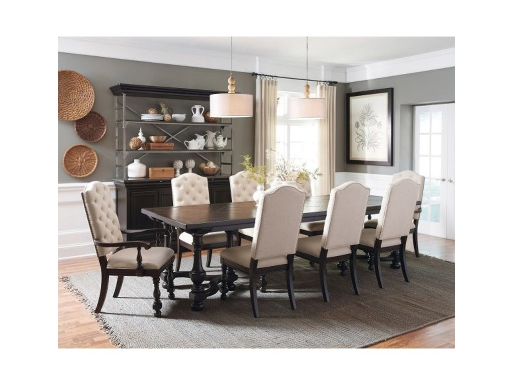 Pulaski Furniture Caldwell9-Piece Table and Chair Set