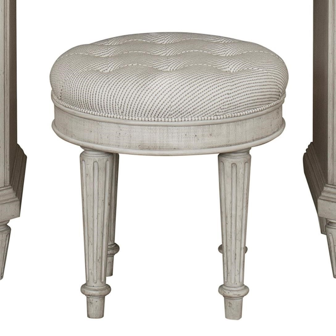 Pulaski Furniture Campbell Street Traditional Upholstered Vanity Stool Reeds Furniture Vanity Stools Vanity Chairs