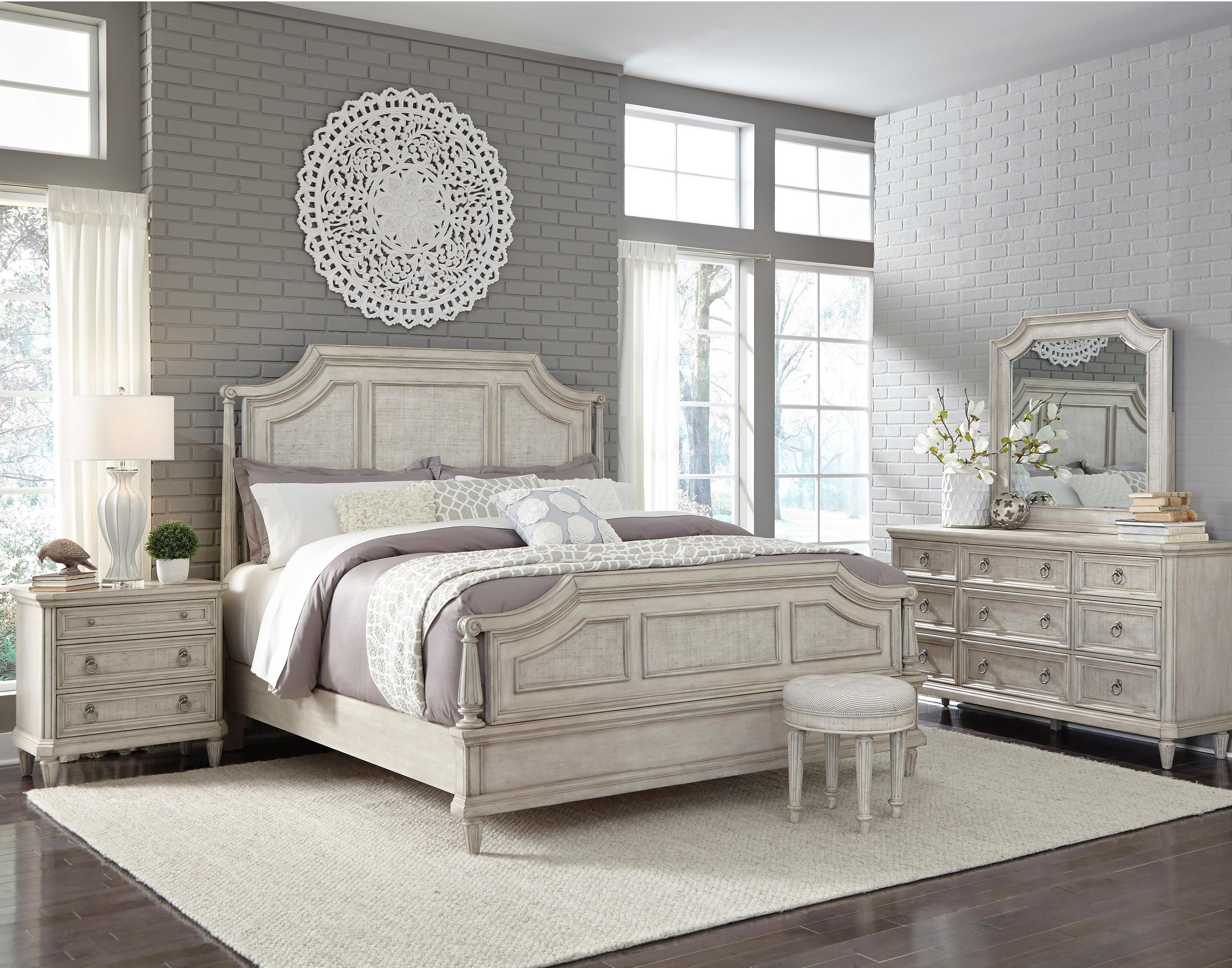 Pulaski Furniture Campbell StreetKing Bed, Dresser, Mirror, And Nightstand  Wi