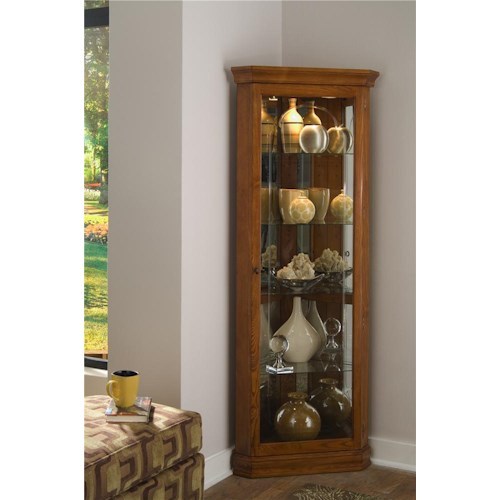 Pulaski Furniture Curios Golden Oak II Corner Curio