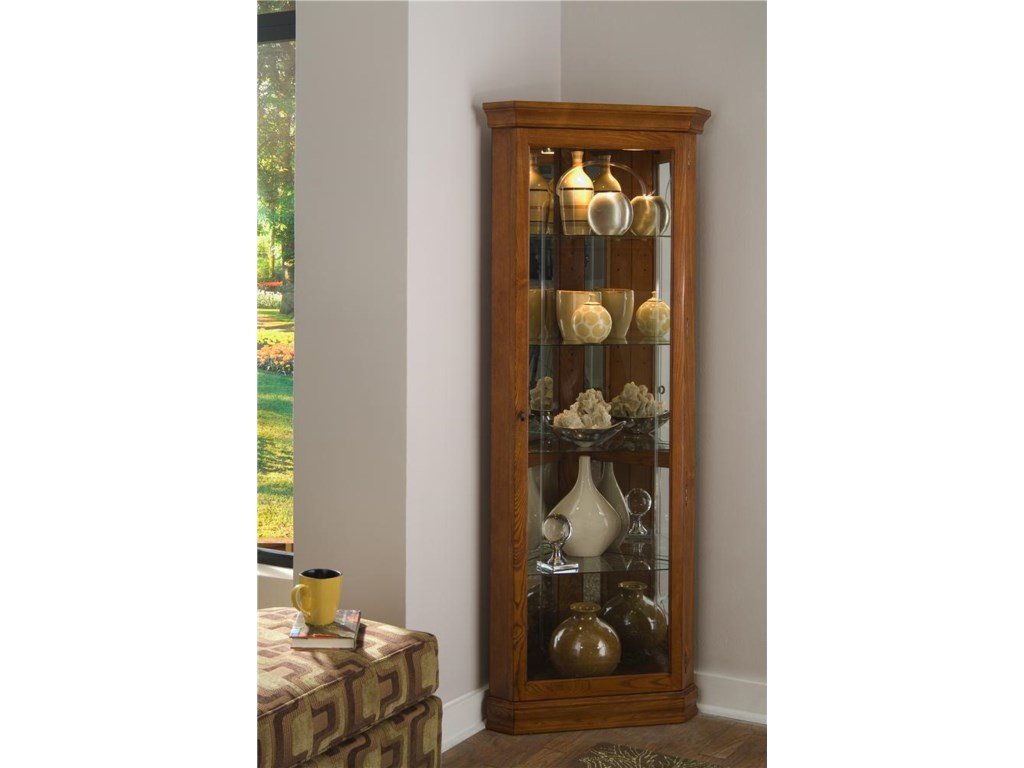 Corner Kitchen Curio Cabinet Pulaski Furniture Curios Golden Oak Ii Corner Curio Gill