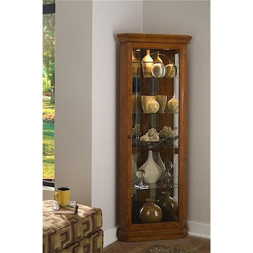 Pulaski Furniture Curios Golden Oak II Corner Curio