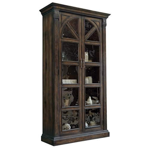 Pulaski Furniture Curios Amalfi Curio China Cabinet w/ Antiqued Glass