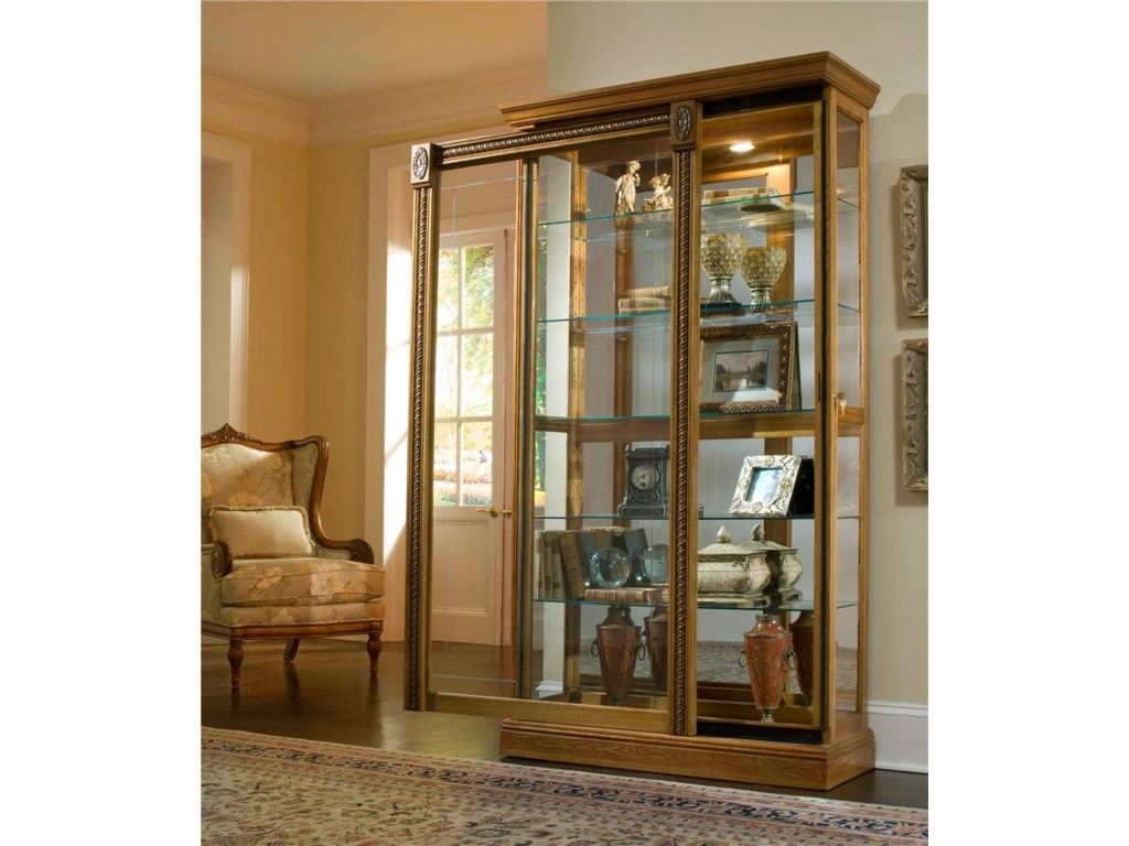 Pulaski Furniture CuriosTwo Way Sliding Door Curio