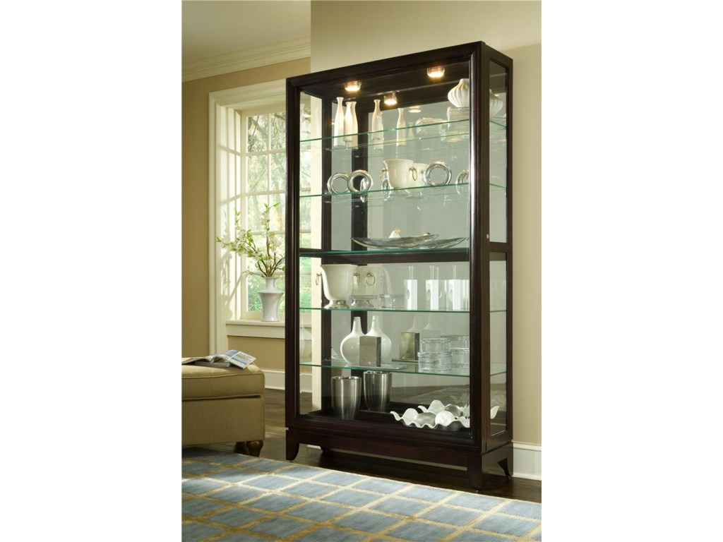 Curios Chocolate Cherry Two Way Sliding Door Curio By Pulaski Furniture At John V Schultz Furniture