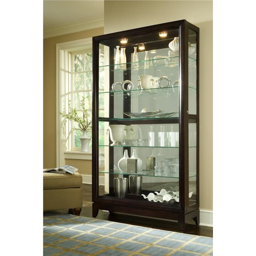Pulaski Furniture Curios Chocolate Cherry Two Way Sliding Door Curio