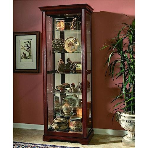 Pulaski Furniture Curios Two-Way Sliding Door Curio