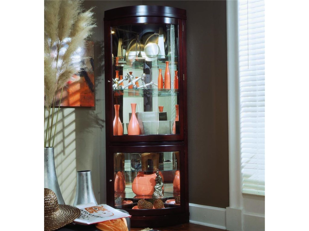 elena cabinet apoc choice corner of by clock black curio cabinets with