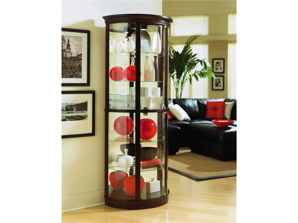 Pulaski Furniture CuriosHalf Round Curio