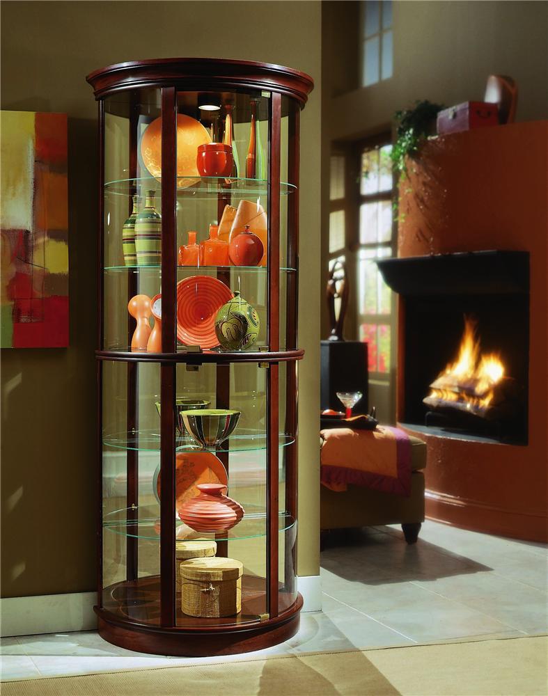 Genial Pulaski Furniture Curios Preference Half Round Curio