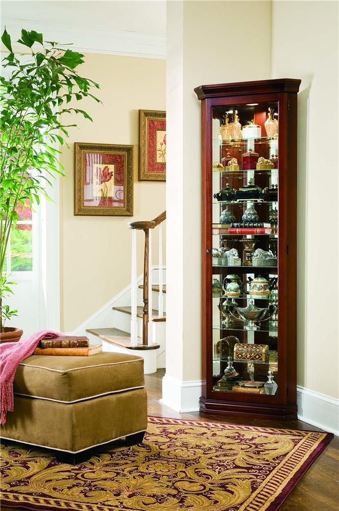 Pulaski Furniture Curios Victorian Cherry Corner Curio