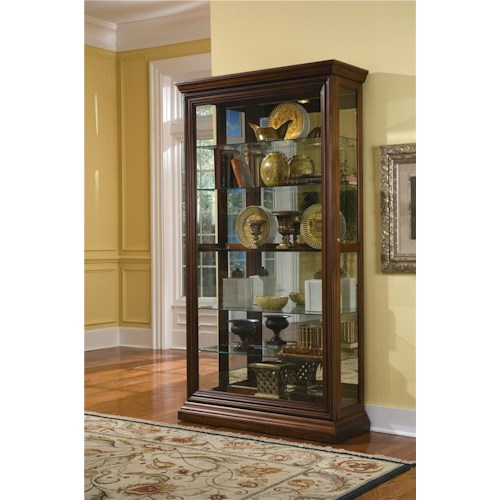Pulaski Furniture Curios Edwardian Two Way Sliding Door Curio