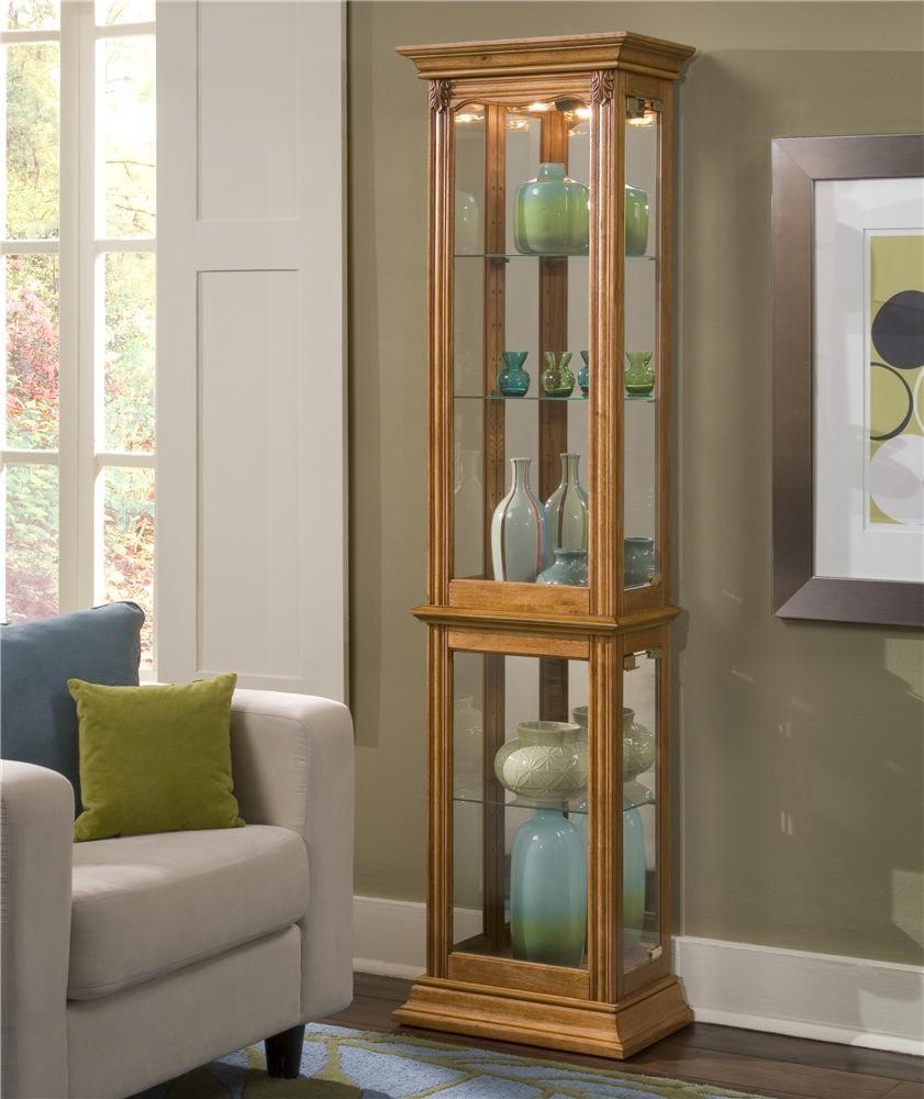 pulaski furniture curios estate oak curio cabinet - john v schultz