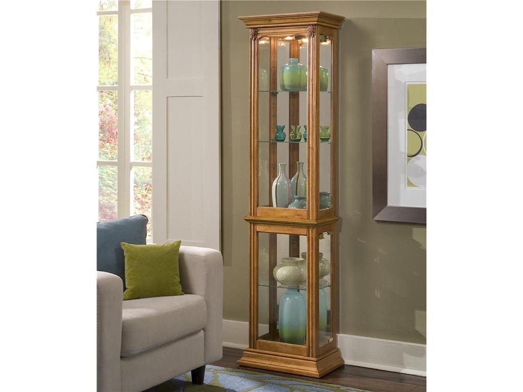 Curios Estate Oak Curio Cabinet By Ski Furniture