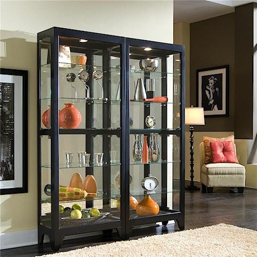 Pulaski Furniture Curios Curio Cabinet with Dark Finish