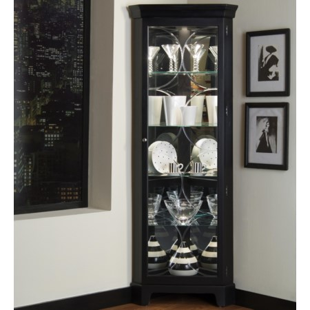 Oxford Black Corner Curio
