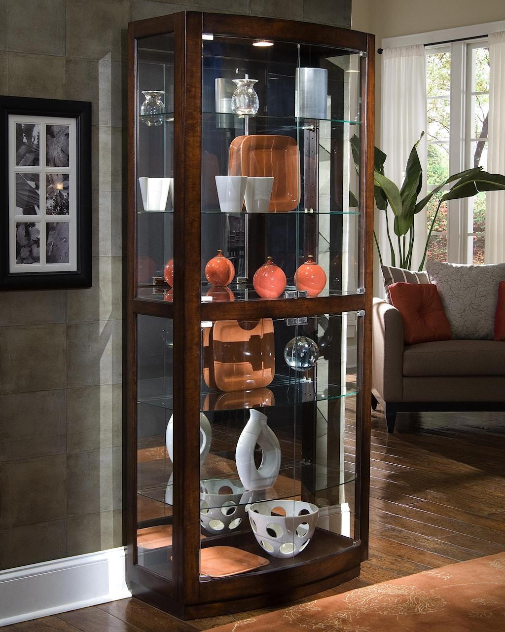 pulaski furniture curios pacific heights curio cabinet - baer's
