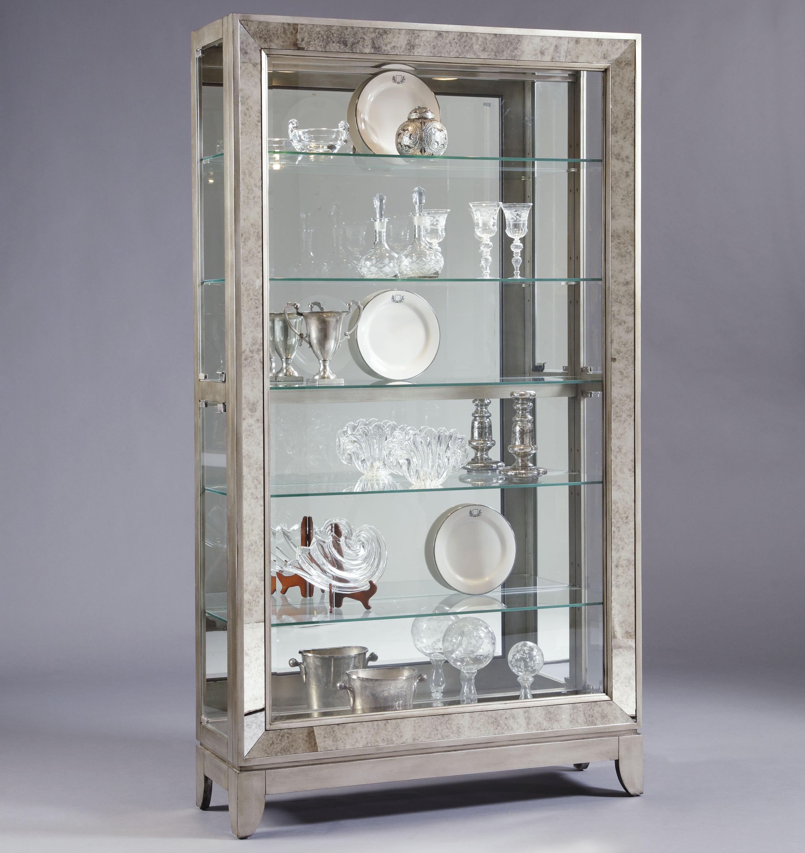 Pulaski Furniture Curios Platinum Side Entry Curio Cabinet ...