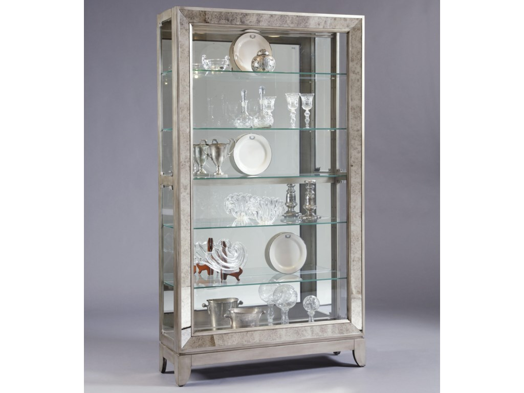 Pulaski Furniture CuriosPlatinum Side Entry Curio Cabinet