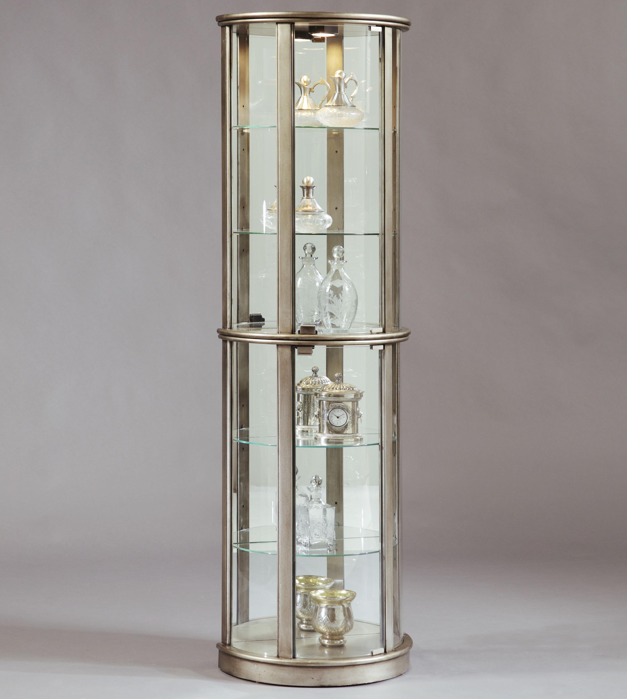 Pulaski Furniture Curios Platinum Glass Door Curio Cabinet Wayside Furniture Curio Cabinets