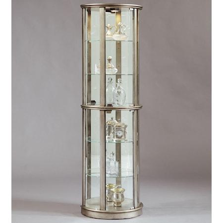 Platinum Glass Door Curio Cabinet